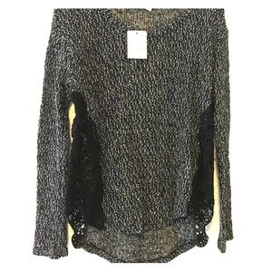 Lush black and white size small sweater_New